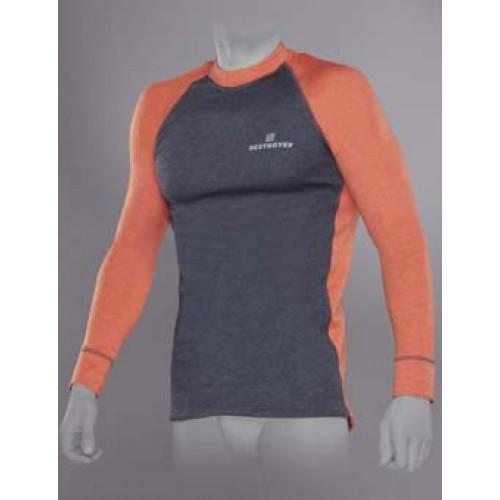 Футболка с длинным рукавом мужская Tramp Outdoor Tracking Man (TRUM-005T-S-OR) серый/оранжевый