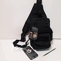Тактический рюкзак кобура на одно плечо 10 л черный, фото 1