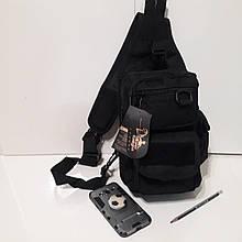 Тактический рюкзак кобура на одно плечо 10 л черный бежевый