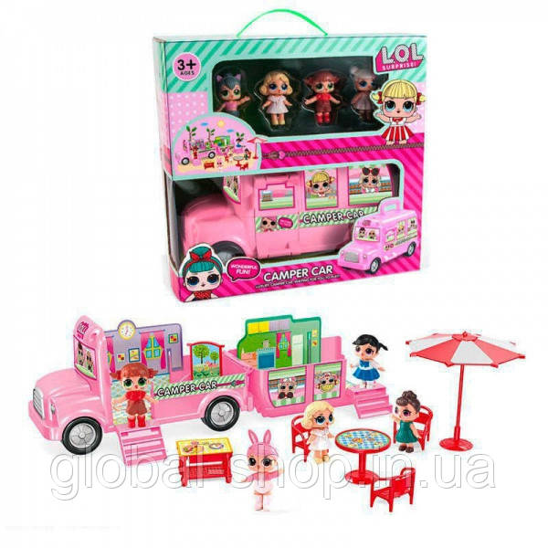 Игровой набор кукол LOL ЛОЛ Дом-автобус,пикник лол