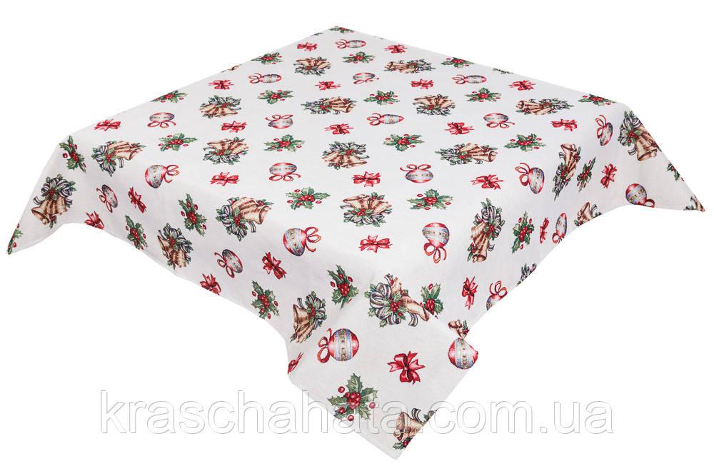 Скатертина новорічна гобеленова, 157х240 см, Ексклюзивні подарунки, Новорічний текстиль