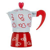 Гейзерная кофеварка 2 чашки Hearts R16594, фото 1
