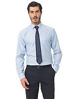 Голубая мужская рубашка Lc Waikiki / ЛС Вайкики в тонкую голубую полоску, фото 1