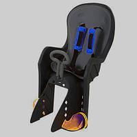 Велокресло детское с задним креплением и ремнями безопасности PROFI M 3133 Black, фото 1