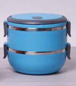 Термос пищевой ланч бокс пластиковый с железной колбой 2 секции 1.5л C-123 Lunch Box