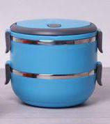 Термос пищевой ланч бокс пластиковый с железной колбой 2 секции 1.5л C-123 Lunch Box, фото 1