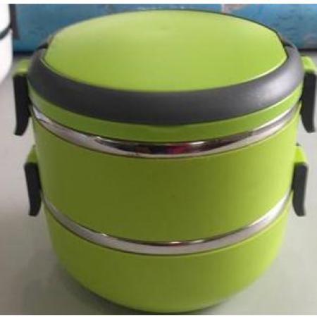 Термос пищевой ланч бокс пластиковый с железной колбой 2 секции 1.5л C-126 Lunch Box