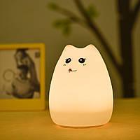 Настольный светильник-ночник Счастливый котик