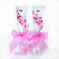 Свадебные бокалы, Розовые.