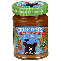 Crofters Organic, Просто фруктовый джем, абрикос, 10 унций (283 г)
