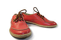 Кожаные красные кеды