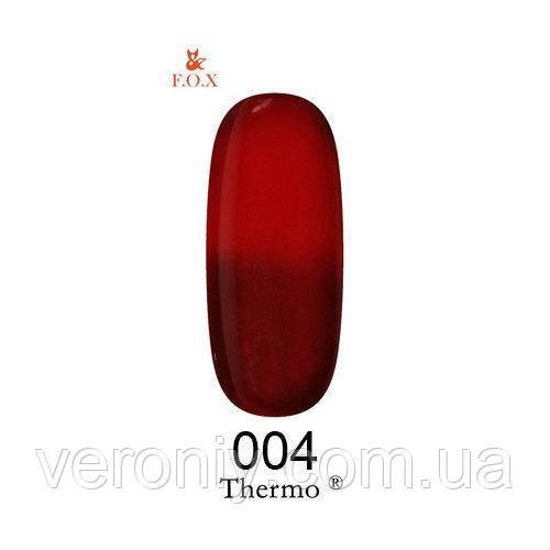 Гель лак FOX Thermo 04, 6 мл