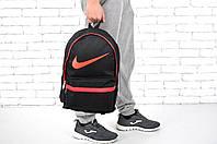 Стильный рюкзак Nike, черный с красными вставками