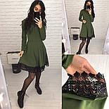 Женское платье с отделкой кружева макраме (2 цвета), фото 3