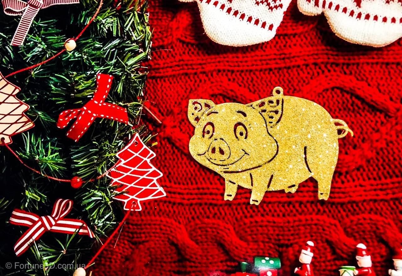 Новогодняя игрушка Свинка - Символ 2019 года