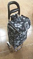 Тачка сумка с колесиками кравчучка 96см MH-1900 Flower Black, фото 1