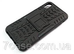 Чехол бампер противоударный бронированный TOTO Dazzle kickstand для iPhone XR черный