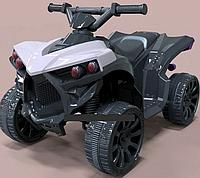 Детский электромобиль Квадроцикл 12V, Кожаное сиденье, EVA-резина, Амортизаторы, дитячий електромобіль Серый
