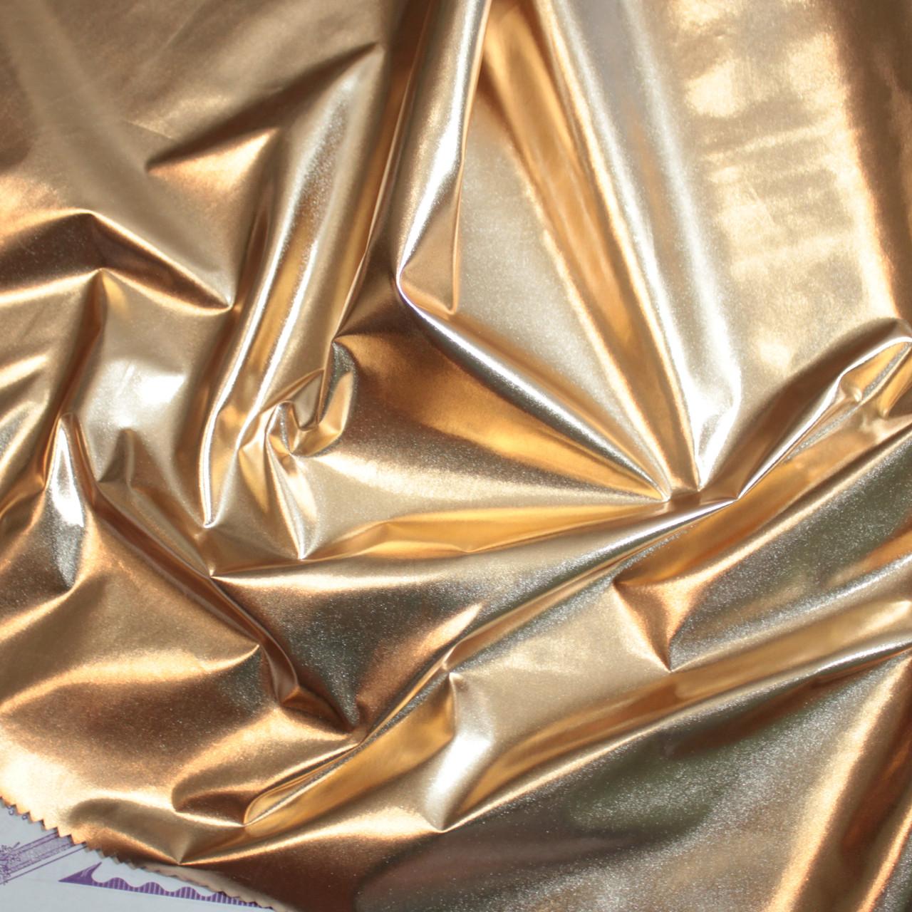 Плащевка металлик (фольга) розовое золото
