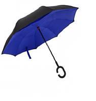 Ветрозащитный зонт обратного сложения д110см 8сп WHW17133 Blue D., фото 1