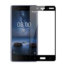 Защитное стекло 3D для Nokia 8 Black