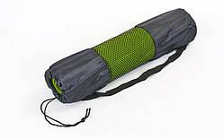 Чехол для йога-коврика, коврика для фитнеса (размер 26 смx66 см, сетка, полиэстер, черный)