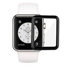 Защитное стекло 5D для  Apple Watch 42mm Black