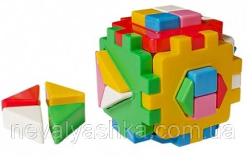 Логический куб сортер, Умный Малыш ЛОГИКА 2 ТЕХНОК 2469 000776