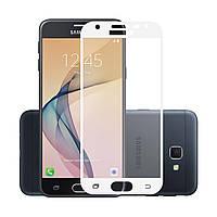 Защитное стекло 5D для Samsung Galaxy J4 (2018) J400 White