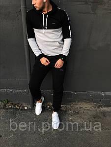 Зимний спортивный костюм Fila (Черно-Белый)