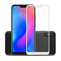 Защитное стекло 5D для  Xiaomi Mi A2 Lite / Redmi 6 Pro White (Клей)