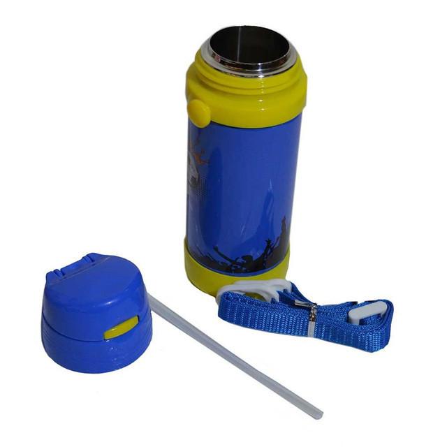 Вакуумный термос детский с трубочкой 320мл A-plus 1776 Blue