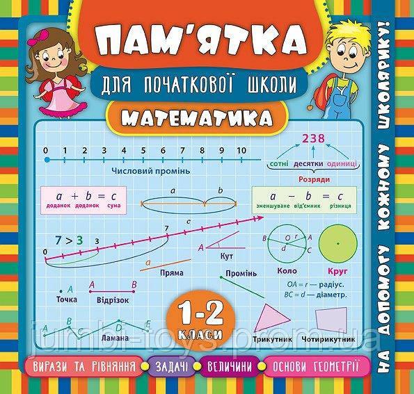Пам'ятка для початкової школи.Математика. 1-2 класи
