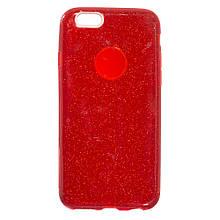 Силикон Candy Apple iPhone 6 (красный)