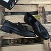 Турецкие мужские кожаные туфли лоферы Luciano Bellini, фото 4