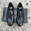 Турецкие мужские кожаные туфли лоферы Luciano Bellini, фото 10