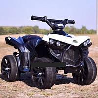 Детский электромобиль Квадроцикл Кожаное сиденье, колёса EVA резина, дитячий електромобіль белый