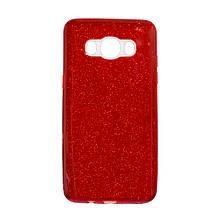 Силикон Glitter Samsung J5 (2015) J500 (красный)