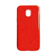 Силикон Glitter Samsung J3 (2017) J330 (красный)