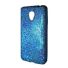Силикон Glitter Meizu M2 Mini (голубой)
