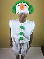 Детский карнавальный новогодний костюм Снеговик меховой