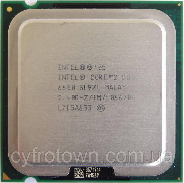 Процессор Intel Core 2 Duo e6600 2x2.4 GHz S775
