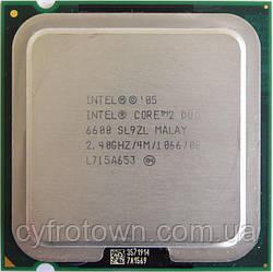Процесор Intel Core 2 Duo e6600 2x2.4 GHz S775