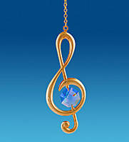 Подвесная фигурка с кристаллами Сваровски Музыкальный ключ 7,5 см AR-1026/ 3