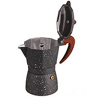 Гейзерная кофеварка A-PLUS на 3 чашки (2084) Мраморная