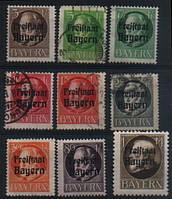 Бавария 1919 - 1920 Надпечатка Freistaat Bayern