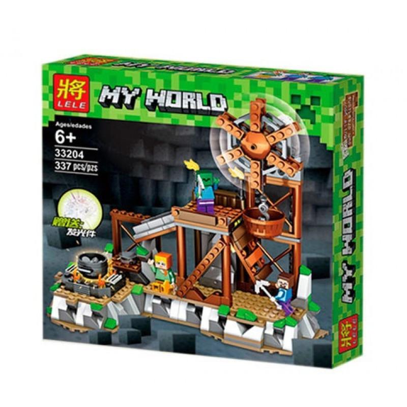 "Конструктор Lele Minecraft(Аналог Lego Minecraft) 33204 ""Серебряный рудник"", 337 деталей"