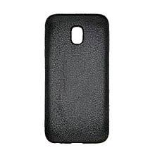 Накладка Back Cover Leather Samsung J3 (2017) J330 (черный)