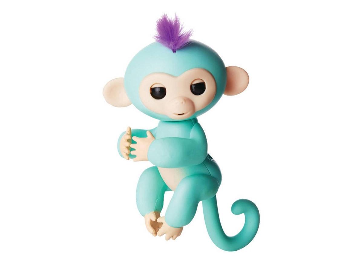 Ручная интерактивная обезьянка HappyMonkey Fingerling Turquoise