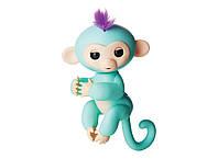 Ручная интерактивная обезьянка HappyMonkey Fingerling Turquoise, фото 1